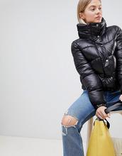 JDY   Стеганая куртка с высоким воротом JDY Roona - Черный   Clouty