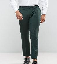 ASOS   Зеленые брюки слим ASOS PLUS - Зеленый   Clouty