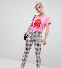 Daisy Street | Узкие брюки в клетку с завышенной талией Daisy Street - Белый | Clouty