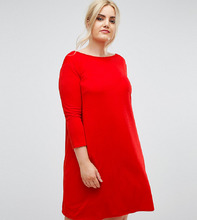 Club L | Свободное платье из крепа Club L Plus - Красный | Clouty