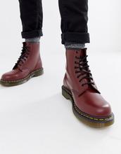 Dr. Martens | Красные ботинки с 8 парами люверсов Dr Martens original 11822600 | Clouty