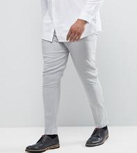 ASOS | Светло-серые супероблегающие брюки ASOS PLUS - Серый | Clouty