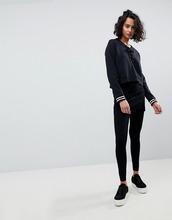 AllSaints | Леггинсы с запахом AllSaints - Черный | Clouty