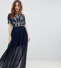 Frock And Frill | Платье макси с декором на лифе Frock And Frill Petite - Темно-синий | Clouty