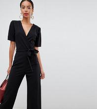 Fashion Union | Комбинезон с широкими штанинами Fashion Union Tall - Черный | Clouty