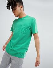 Weekday | Зеленая футболка с выбеленным карманом Weekday - Зеленый | Clouty