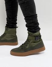 ASOS | Высокие кроссовки цвета хаки с каучуковой подошвой ASOS - Зеленый | Clouty