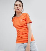 Puma | Оранжевая футболка с лентой на рукавах Puma эксклюзивно для ASOS | Clouty