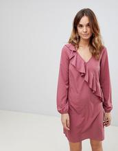 Vila | Платье с оборками Vila - Розовый | Clouty