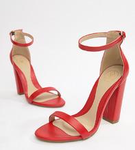 Missguided | Красные легкие босоножки на блочном каблуке Missguided - Красный | Clouty
