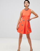 Forever Unique | Свободное платье с отделкой Forever Unique - Оранжевый | Clouty