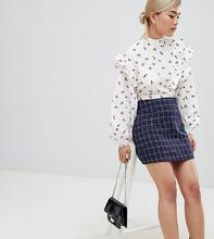 Fashion Union | Блузка с длинными рукавами и цветочным принтом Fashion Union Petite - Розовый | Clouty