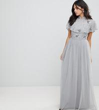 Frock And Frill | Премиум-платье макси с декорированным топом и высоким воротником Frock | Clouty