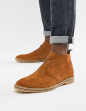 River Island | Светло-коричневые замшевые ботинки чукка River Island - Рыжий | Clouty