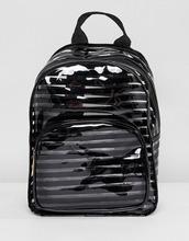 yoki fashion | Пластиковый рюкзак в черную полоску Yoki Fashion - Черный | Clouty