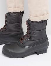 Hunter | Стеганые ботинки на шнуровке Hunter Original - Черный | Clouty
