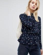 Only | Блузка с цветочным принтом и оборкой Only - Мульти | Clouty
