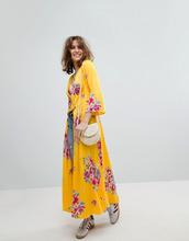 Free People | Длинный пиджак с цветочным принтом Free People Alexa - Желтый | Clouty