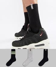ASOS | Набор из 3 пар фестивальных носков в спортивном стиле ASOS - Мульти | Clouty