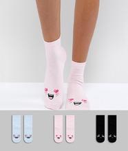 ASOS | 3 пары с носков ASOS DESIGN - Мульти | Clouty