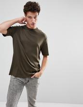 Selected Homme | Oversize-футболка с заниженной линией плеч Selected Homme - Зеленый | Clouty