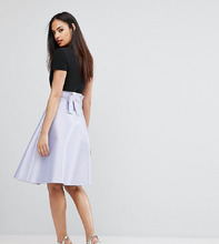 Vesper   Атласная юбка на выпускной с бантом сзади Vesper Bonded - Фиолетовый   Clouty