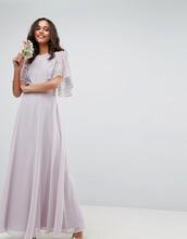 ASOS | Платье макси с кружевной аппликацией ASOS DESIGN - Мульти | Clouty