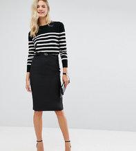 ASOS | Удлиненная юбка-карандаш с поясом ASOS TALL - Черный | Clouty