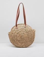 asos design | Круглая соломенная сумка с полиуретановыми ручками ASOS DESIGN | Clouty