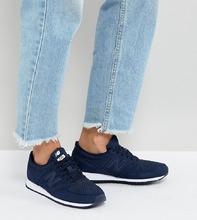 New Balance | Темно-синие замшевые кроссовки New Balance 420 - Темно-синий | Clouty