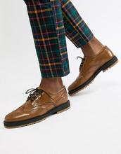 ASOS | Светло-коричневые кожаные броги на толстой подошве ASOS DESIGN - Рыжий | Clouty