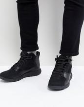 Timberland | Высокие кожаные кроссовки Timberland Flyroam - Черный | Clouty