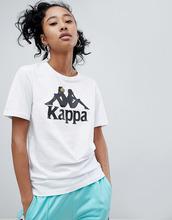 Kappa | Свободная футболка с крупным логотипом Kappa - Белый | Clouty