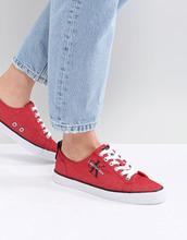 Calvin Klein | Красные парусиновые кроссовки Calvin Klein - Красный | Clouty