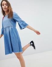 JDY | Короткое приталенное джинсовое платье JDY - Синий | Clouty