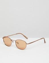 ASOS | Овальные солнцезащитные очки в стиле 90-х со светло-коричневыми стекла | Clouty