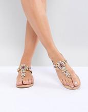 ASOS | Кожаные сандалии ASOS DESIGN Fairlight - Золотой | Clouty