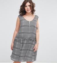 ASOS | Платье мини в клетку с заниженной линией талии ASOS CURVE - Мульти | Clouty