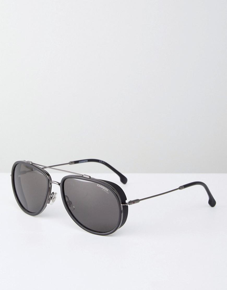 478616a9fea9 Carrera   Черные солнцезащитные очки-авиаторы Carrera - Черный   Clouty ...