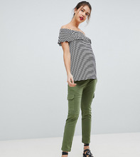 Isabella Oliver | Стретчевые брюки карго Isabella Oliver - Зеленый | Clouty