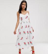 Little Mistress   Приталенное платье для выпускного с вышитыми розами Little Mistress Ta   Clouty