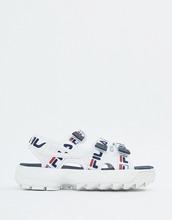 FILA | Белые сандалии с ремешком и логотипом Fila Disruptor - Мульти | Clouty