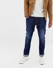 Nudie Jeans Co | Темные прямые джинсы с потертостями Nudie Jeans Co Dude Dan - Синий | Clouty