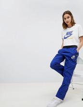 NIKE   Синие спортивные брюки Nike - Синий   Clouty