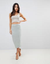 ASOS | Длинная юбка-карандаш ASOS DESIGN - Зеленый | Clouty