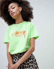 Stussy | Свободная футболка с логотипом Stussy - Зеленый | Clouty