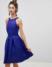 Little Mistress   Платье для выпускного с аппликацией Little Mistress - Синий   Clouty