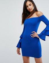 Club L | Платье мини с ярусными рукавами Club L - Синий | Clouty