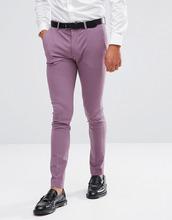 ASOS   Строгие брюки скинни ASOS - Фиолетовый   Clouty
