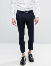 ASOS | Темно-синие укороченные супероблегающие брюки в строгом стиле ASOS | Clouty
